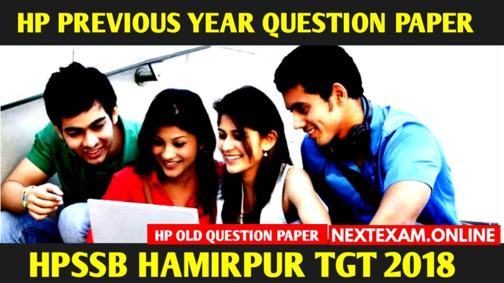 HP TGT PREVIOUS YEAR SOLVED QUESTION PAPER